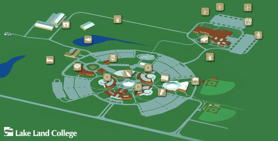 Lakeland Campus Map.Lake Land College Project Takes Holistic Approach To Sustainability